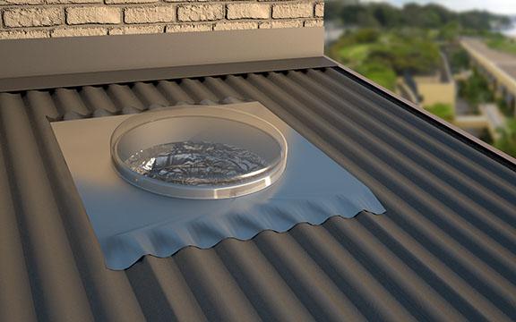 Metal Roof Soakers Amp Corotile Lightweight Metal Roofing